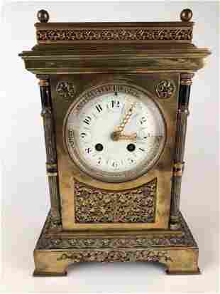 Tiffany and Company bronze mantle clock