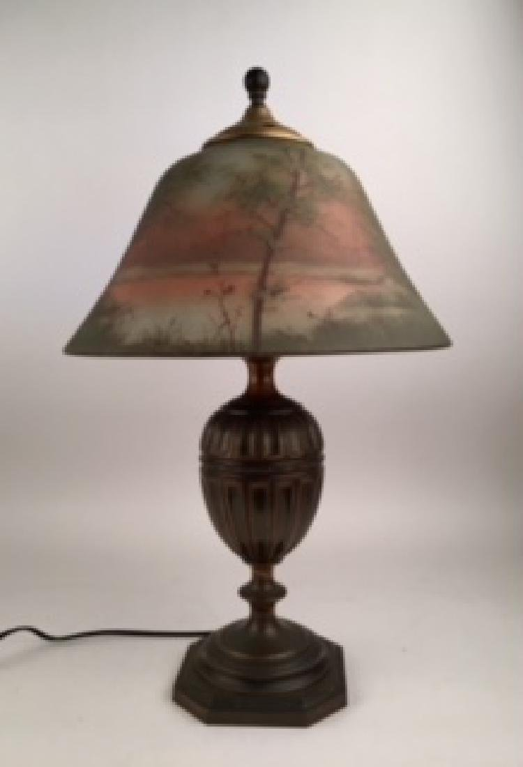 Pairpoint Table Lamp, Countryside scene on an - 2
