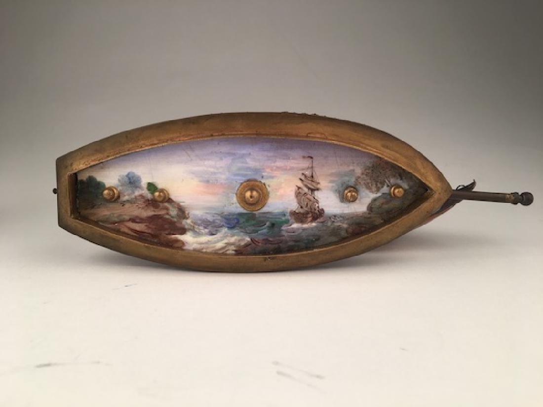 Vienna enamel painted bronze sail vessel. - 10