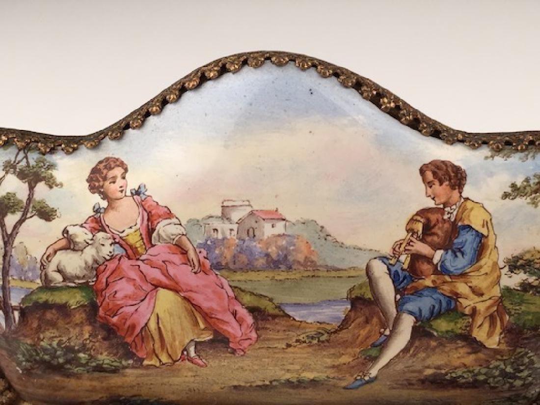 Austrian painted enamel sofa. - 2
