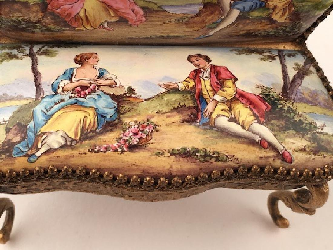 Austrian painted enamel sofa. - 3