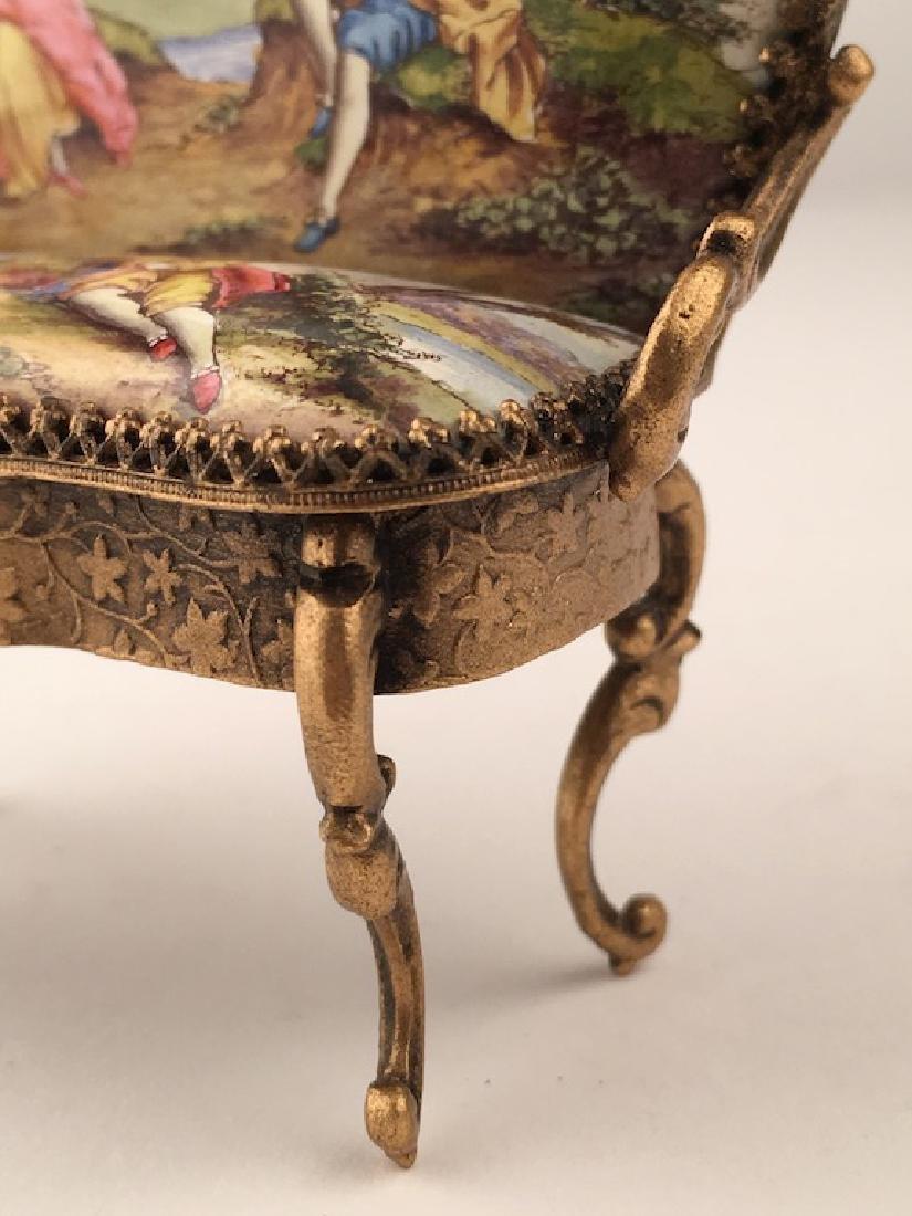 Austrian painted enamel sofa. - 4