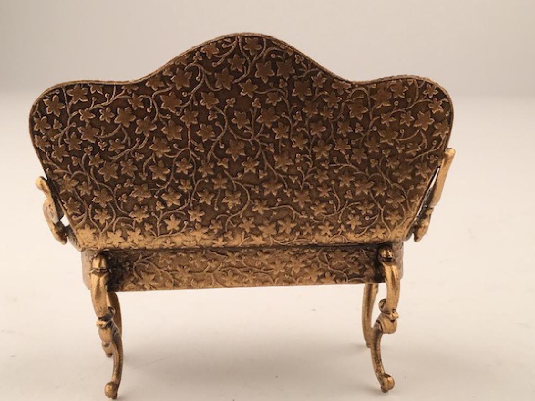 Austrian painted enamel sofa. - 6