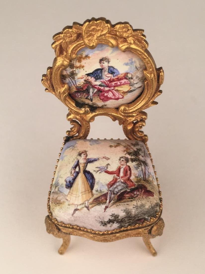Three pieces of miniature furniture consisting of one - 4
