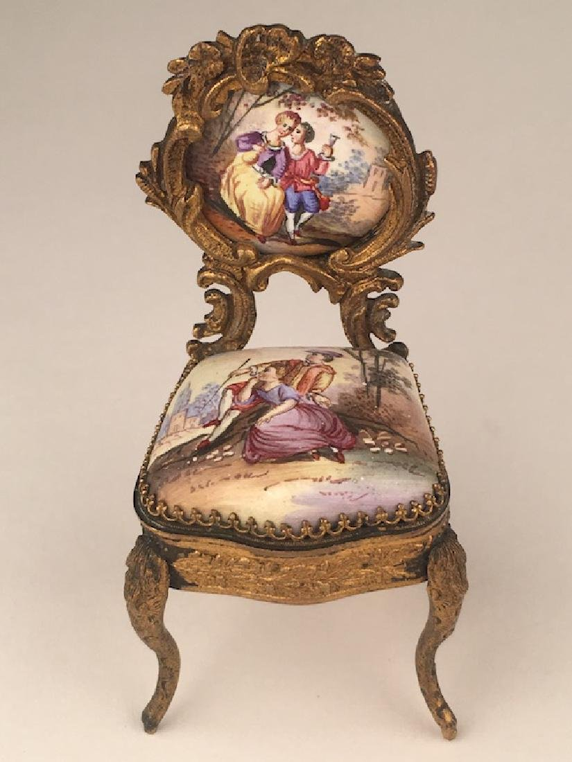 Three pieces of miniature furniture consisting of one - 5