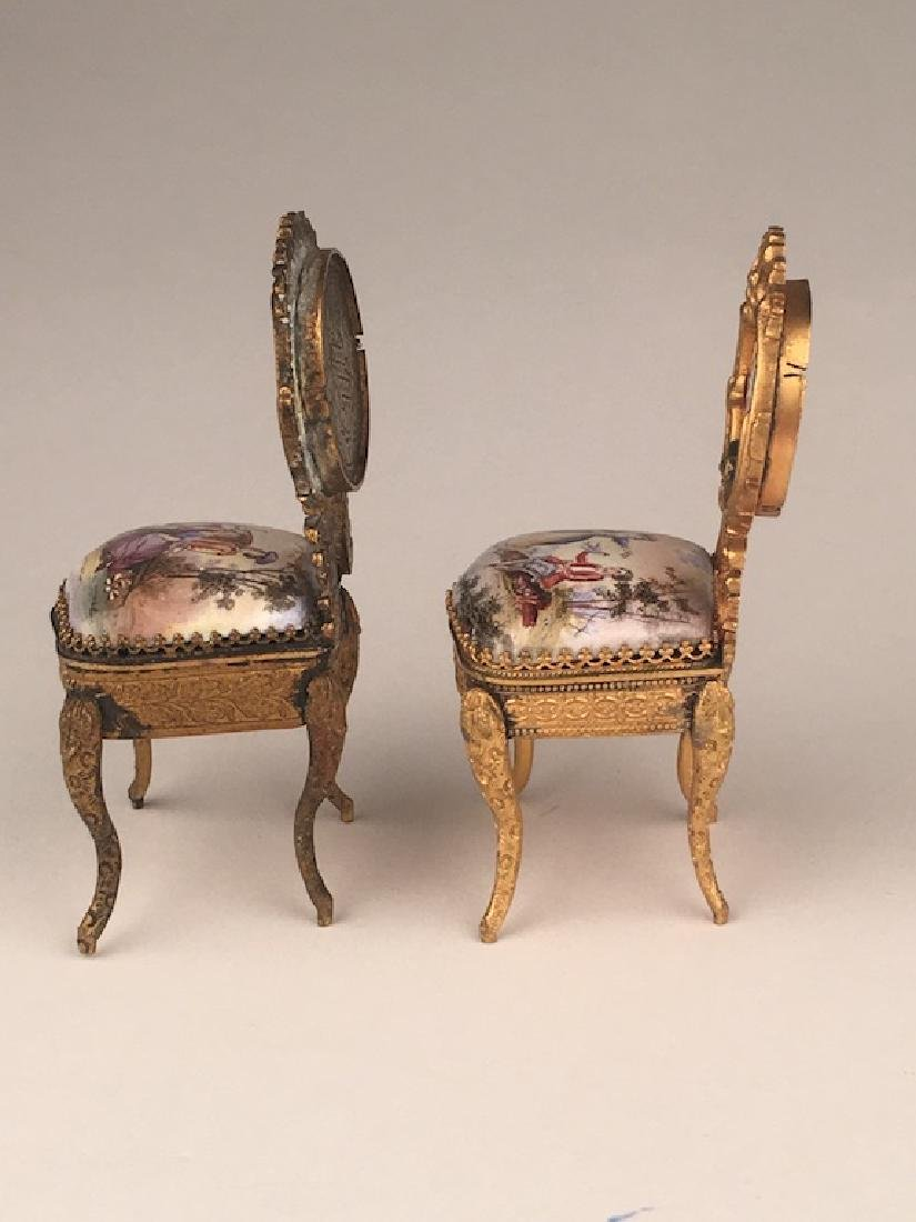 Three pieces of miniature furniture consisting of one - 6