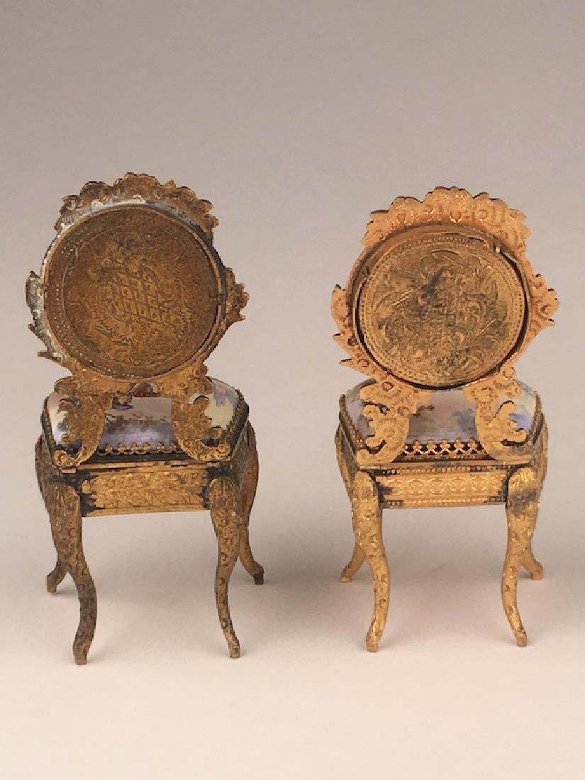 Three pieces of miniature furniture consisting of one - 7