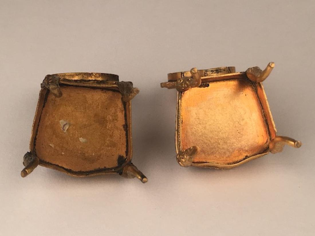 Three pieces of miniature furniture consisting of one - 8