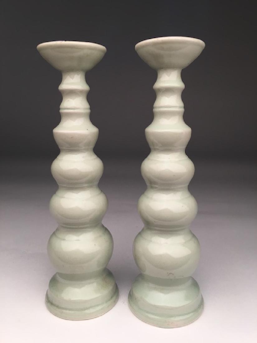 19th/20 th century ? Japanese celadon porcelain vases.