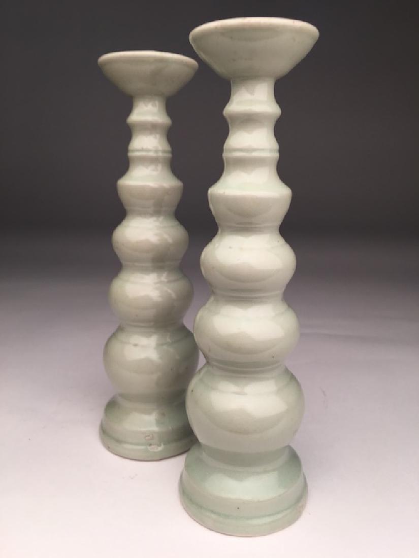 19th/20 th century ? Japanese celadon porcelain vases. - 3