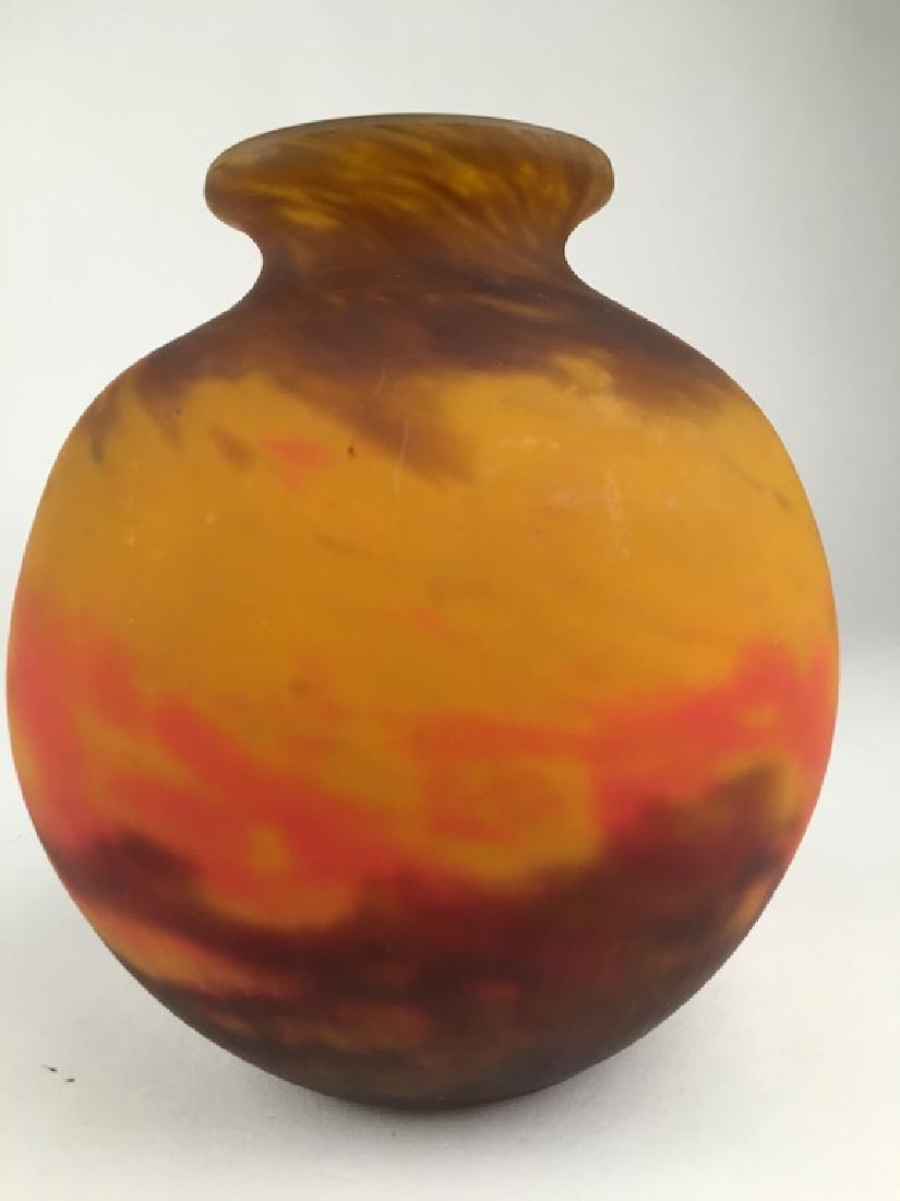 Muller Freres French art glass vase.