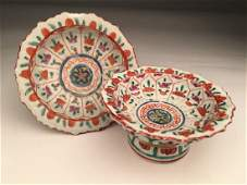 Two late 18 th early 19 th century Chines footed bowls.