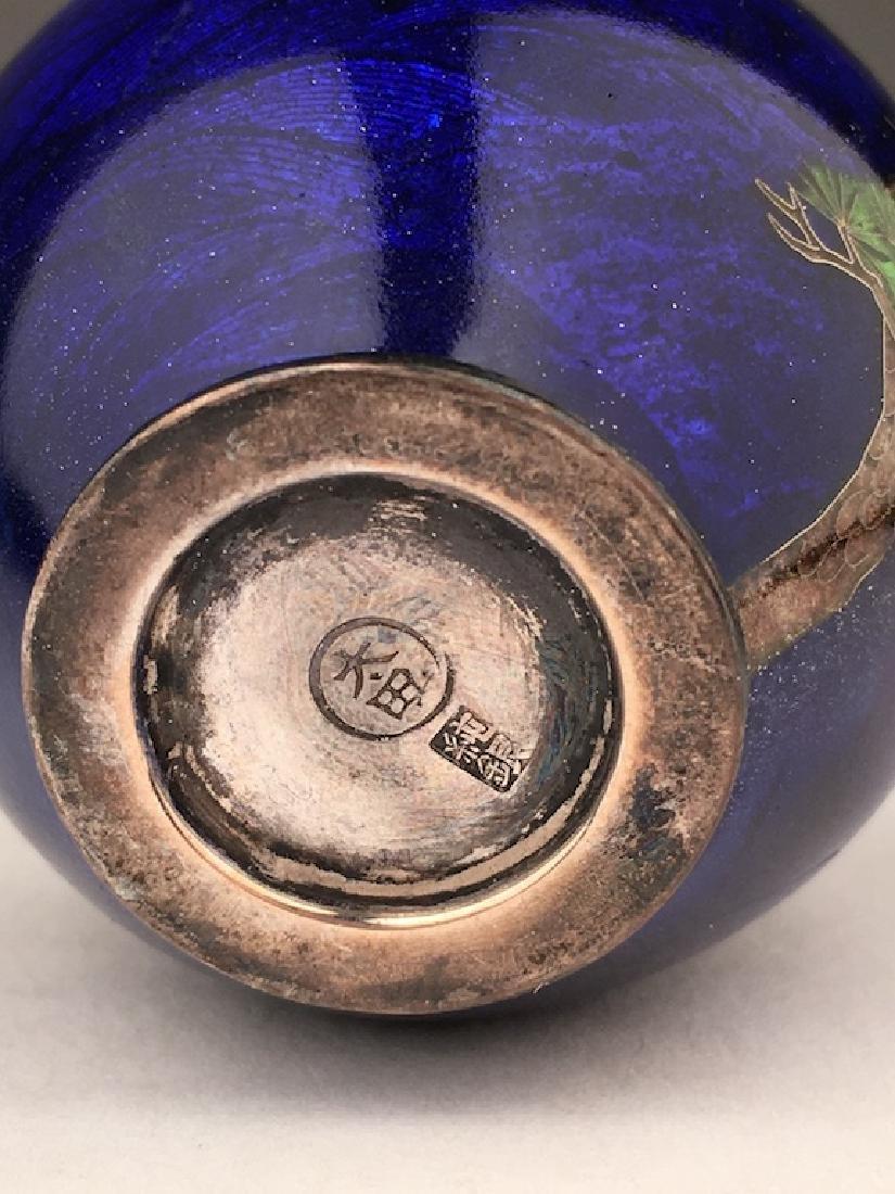 Minature Japanese cloisonne vase - 4