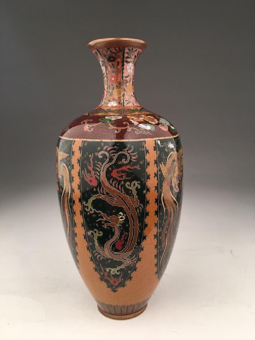 Late 20 th century Japanese cloisonne vase.