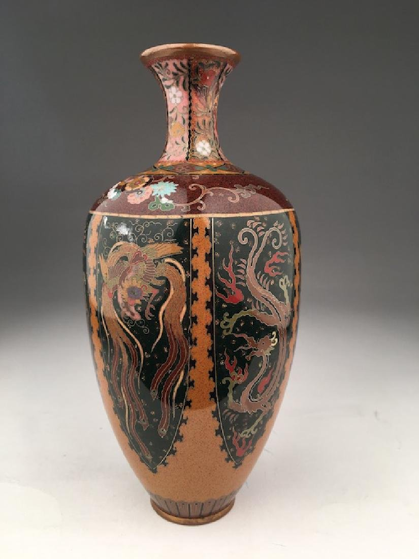 Late 20 th century Japanese cloisonne vase. - 2