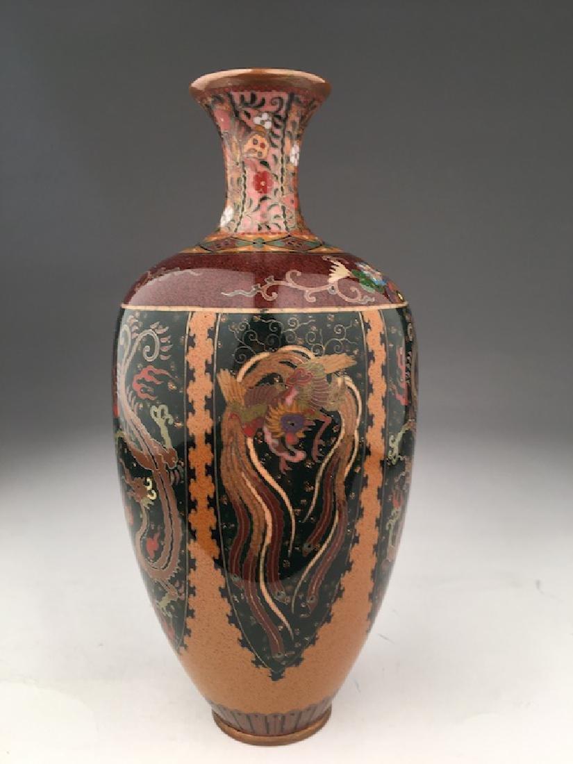 Late 20 th century Japanese cloisonne vase. - 3