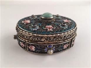 AustrianHungarian silver and gold wash hindged box
