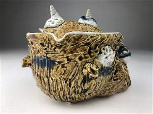 A large Hirado sea shell covered box with applied shell