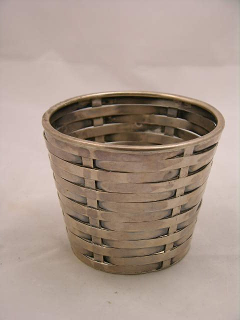3: 3: TIFFANY STUDIOS BASKET WEAVE STERLING SILVER CUP.