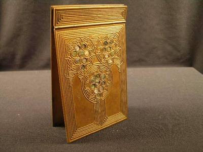 "7: 7: TIFFANY STUDIOS NOTE PAD IN THE ""ABALONE"" PATTERN"