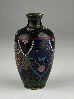 Early 20 th century Japanese cloisonne vase