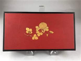 Late 20 th century Japanese lacquer storage box
