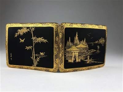 Circa 1900 Japanese gold and silver Komai cigarette