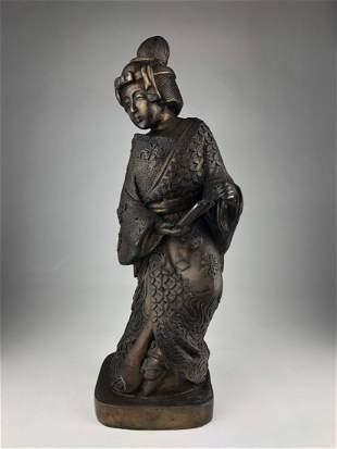 Antique bronze figure of a Geisha