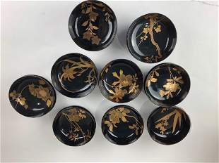 Nineteen 20 th century Japanese lacquered bowls