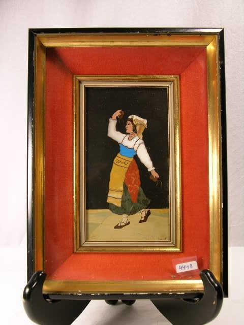 711: ITALIAN PIETRA DURA.  A WOMAN DANCING.
