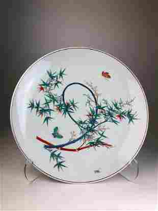 Japanese porcelain studio charger decorated with