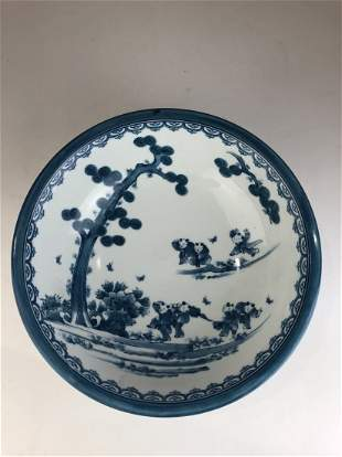 Japanese porcelain studio late 19 th century blue and