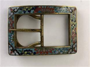 Japanese vintage cloisonne belt buckle