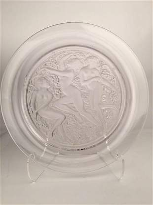 Lalique France Cote D Or centerpiece bowl in clear