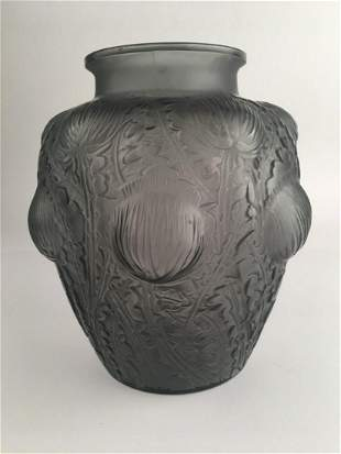 """Rene Lalique """"Domremy"""" vase, decorated with thistle and"""