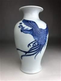 A Makuzu Kozan Japanese depictiong a flying Phoenix in