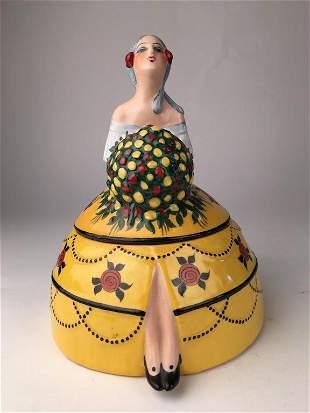 DH Chiparus Vestale porcelain box