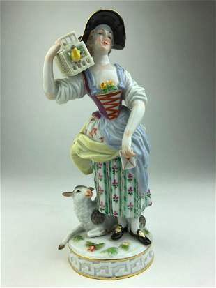Meissen porcelain figure original modeled by Michel