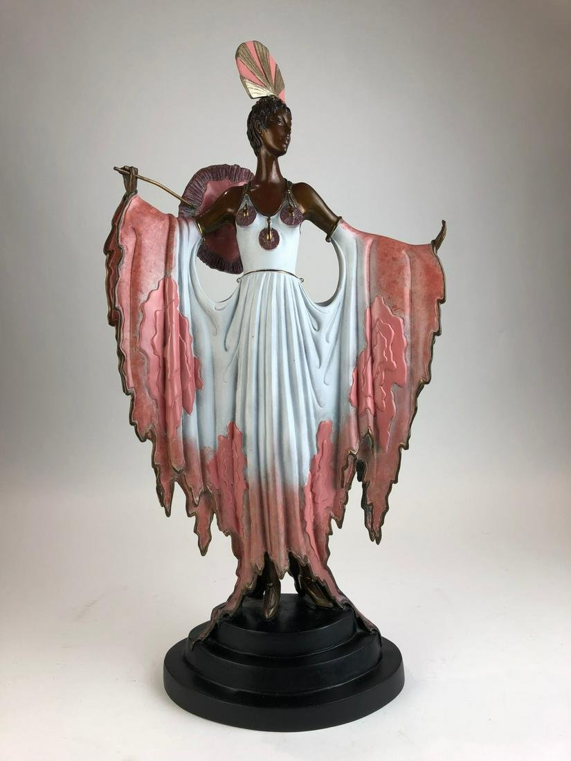 "Erte (Romain De Tiftoff) ' Twillight"" bronze figure of"