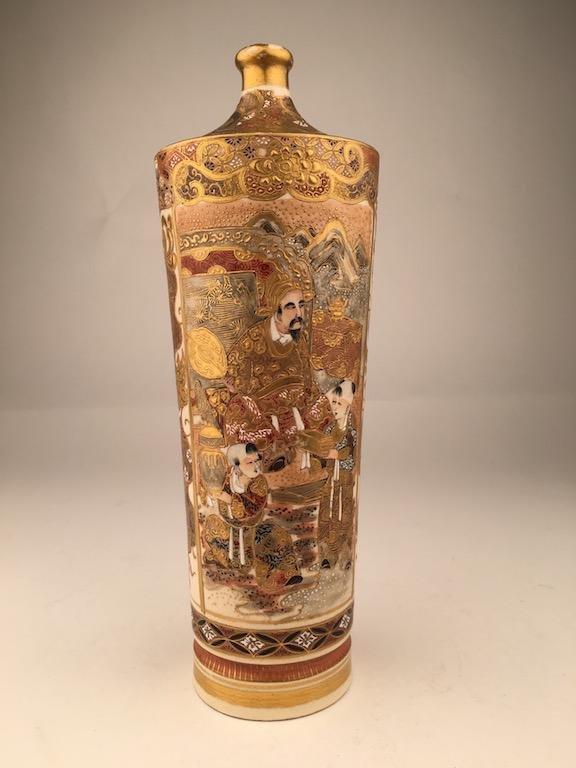 19 th Century Japanese porcelain Satsuma vase.