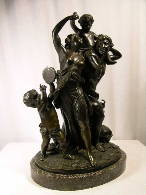 1350: CHARLES CLODION:BRONZE FIGURE OF MAN AND WOMAN WI