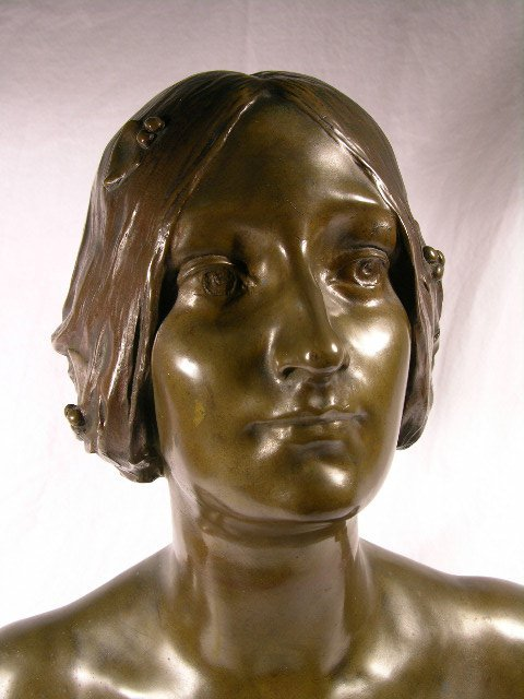 1353: MAURICE BOUVAL (FRENCH: 1863-1920) BRONZE ART NOU