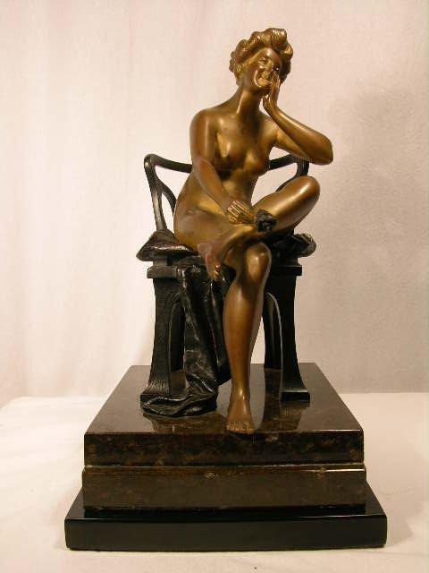 1354: GODARD ART DECO BRONZE.