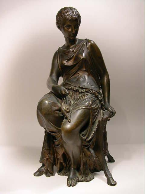 1357: AUGUSTE PEIFFER: ARVED  FEMALE BRONZE.