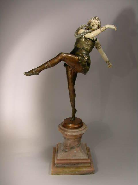 1367: C.J. COLINET: DANCER WITH SNAKE.