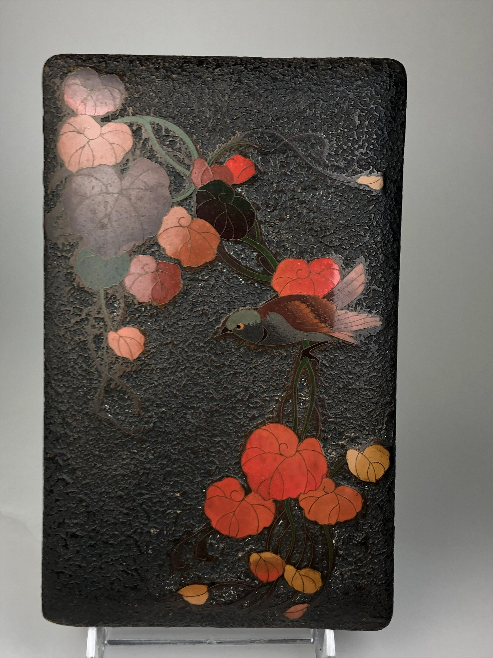 Japanese cloisonne box with lid.