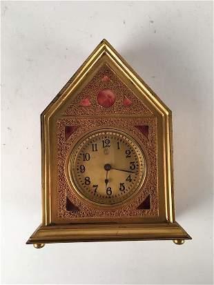 Louis C Tiffany Furnaces Inc desk clock in the