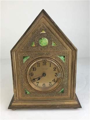 Tiffany Furnaces Twisted Rope desk clock