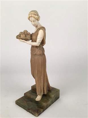 Sculpturealabaster Signed K Kreischmer