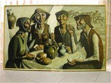 2328: JESUS VILLAR (FRENCH)  ON CANVAS PAINTING.